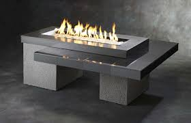 amazon com outdoor greatroom uptown gas fire pit with 42x12 inch