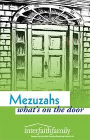 mezuzahs what s on the door interfaithfamily