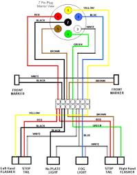 wiring diagrams 7 pin trailer harness 5 showy brakes diagram