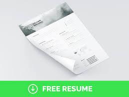 Minimalist Resume Free Minimal U0026 Clean Resume Template Ps U0026 Ai By Mats Peter Forss