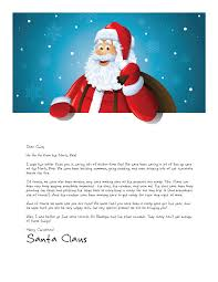 santa claus letters easy free letters from santa claus to children