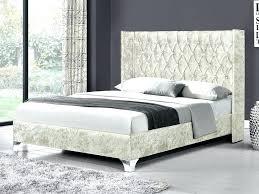 Velvet Sleigh Bed Velvet Sleigh Bed Crushed Velvet Bed King Size Oyster Crushed