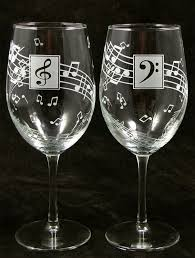 wine glass gifts wine glasses personalized gift for lover musician