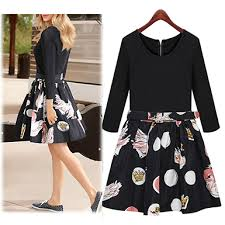 knee length skirt knee length dress floral black flare skirt
