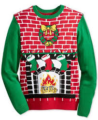 sweater s light up fireplace sweater