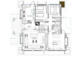 Bungalow Plans Deluxe 3 Bedroom Bungalow House Plan Home Design