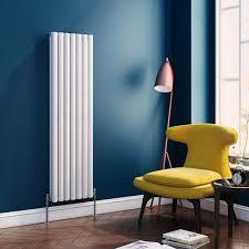 rnd nv4115w pv brenton oval tube vertical designer radiator