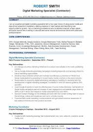 Marketing Resume Sample Pdf by Marketing Resume Samples Examples And Tips