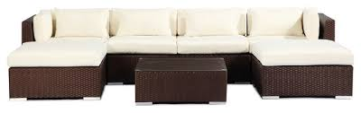 Outdoor Sofa Sectional Set Napali 7 Piece Outdoor Sofa Sectional Set Tropical Outdoor