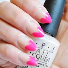pink nails with music nail art design idea