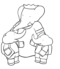 999 coloring pages 122 best babar images on pinterest children drawings and animals