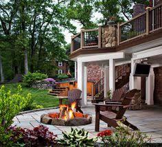Deck Patio Designs by Precast Flagstone Patio Under Deck Traditional Patio Gardening
