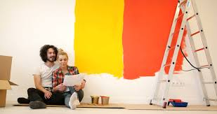 relaxing painting videos man doing a home makeover and painting walls he is relaxing on the