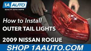 nissan versa tail light how to install replace outer tail lights 2008 13 nissan rogue buy