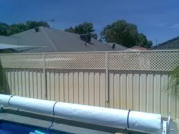 plastic lattice on colour bond fence lattice and screens com au