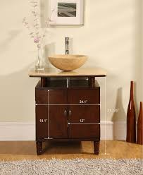 vessel sink vanity with single sink for tiny bathroom traba homes