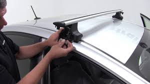 roof rack for toyota prius installation of the thule aeroblade traverse roof rack on a 2011