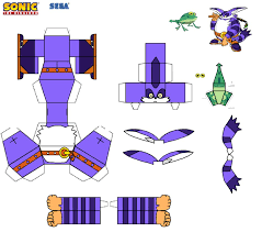Sonic The Hedgehog Papercraft - sonic the hedgehog papercraft big and froggy by tvfan0001 on