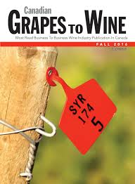 canadian grapes to wine magazine fall 2016 by canadian grapes