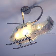 Helicopter Ceiling Light Modern Fashion Led Children Room Helicopter Ceiling Light Glass