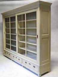 Glass Bookcase With Doors Bookcase With Sliding Glass Doors Early 20th