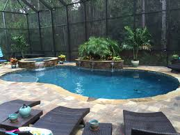 Custom Pool spa screen enclosure by Poolside Designs
