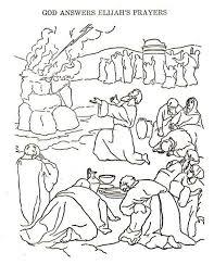 elijah prophets baal coloring funycoloring