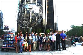 business journalism trip to new york helps students network and