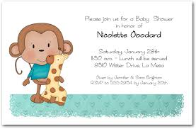 monkey boy baby shower boy baby monkey baby shower invitations