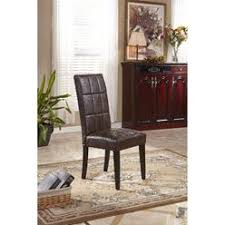 Leather Parsons Chairs Essential Home Faux Leather Parsons Chair