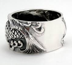 silver mens wedding bands sterling silver japanese koi mens wedding bands ring
