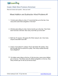 subtraction word problems 2nd grade math word problem worksheets free and printable k5