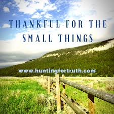 thanksgiving truth thankful for the small things hunting for truth