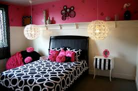 Fancy Home Decor Cosy Pink And Black Girls Room Fancy Home Design Furniture