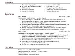 Best Teaching Resumes by Shining Teacher Resume Templates 1 Best Example Cv Resume Ideas