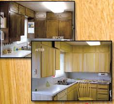 staining kitchen cabinets darker before and after kitchen cabinet refinishing