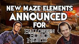 spirit halloween daly city halloween horror nights 2017 huge maze elements revealed youtube