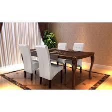chaise cuir blanc chaise antique simili cuir blanc lot de 4 achat vente chaise