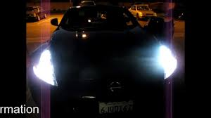 nissan 370z headlight covers nissan 370z led angel eyes and audi style drl by jlc lighting