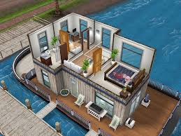 white inspired houseboat thesims simsfreeplay housedesign