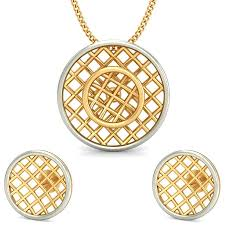 gold earrings necklace images The rosy earrings and pendant set in gold earrings and pendant jpg