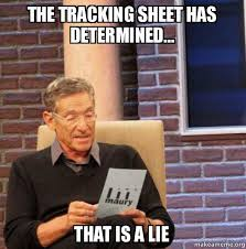 Meme Tracking - the tracking sheet has determined that is a lie maury povich