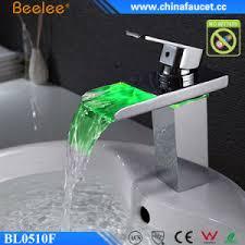 Led Bathroom Faucets China Bathroom Led Light Washbasin Temperature Water Basin Faucet