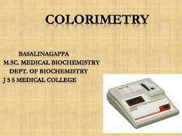 Applications Of Colorimetry In Analytical Chemistry Colorimetry Class