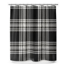 Black Drapery Fabric Plaid Shower Curtains You U0027ll Love Wayfair