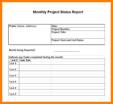 Project Daily Status Report Template Excel Monthly Management Report Template Financial Account Management