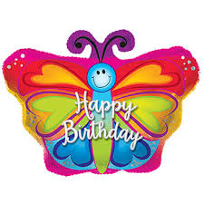 birthday balloons bulk butterfly shaped happy birthday foil balloons 22 in at
