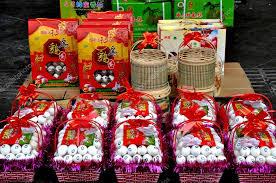 new year gift baskets pengzhou china new year gift eggs stock editorial photo