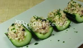 cuisiner concombre concombre froid farci recette entrée concombre