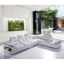 canapé design cuir soldes canapé cuir canapé d angle blanc design contemporain promo